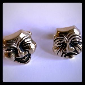 Vintage Theater Mask Drama Cufflinks